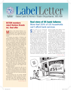Label Letter–September-October 2012