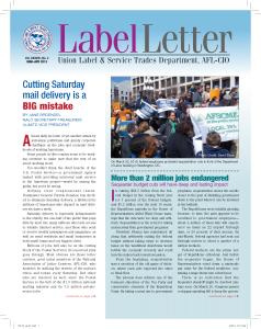 Label Letter--March-April 2013
