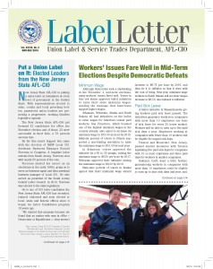 Label Letter--January-February 2013