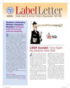 Label Letter–July-August 2012