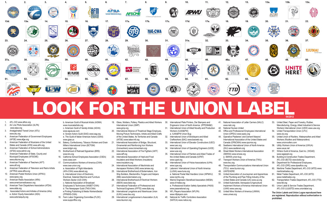 Look for the Union Label