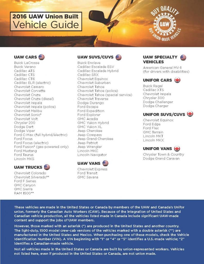 UAW-Vehicle-Guide