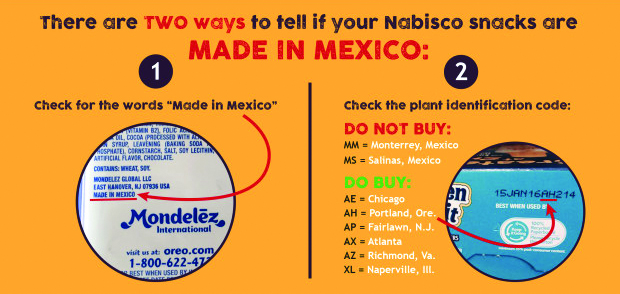 "AFL-CIO endorsement of BCTGM's boycott of ""Made in Mexico"" Mondelez International snack foods"