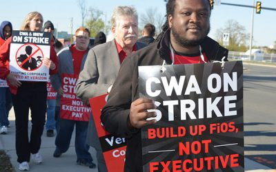 CWA Members on Strike at Verizon